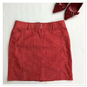 J. Crew pencil red denim skirt cotton blend